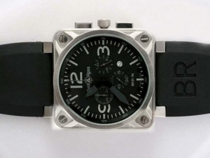 Gorgeous Bell & Ross BR 01-94 Working Chronograph AR Coating with Black Dial AAA Watches [E9R5]