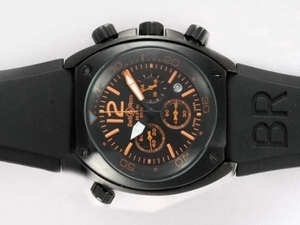 Gorgeous Bell & Ross BR 02-94 Working Chronograph PVD Case with Black Dial AAA Watches [P5G7]