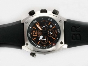 Gorgeous Bell & Ross BR 02-94 Working Chronograph Orange Marking with Black Dial AAA Watches [N8Q9]