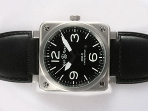 Gorgeous Bell & Ross BR 03-92 Automatic with Black Dial 46x46mm AAA Watches [S3P7]
