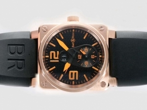 Gorgeous Bell & Ross BR01 Two Time Zone Automatic Rose Gold Case AAA Watches [L8L5]