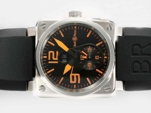 Gorgeous Bell & Ross BR01 Two Time Zone Automatic Orange Marking AAA Watches [W3M4]