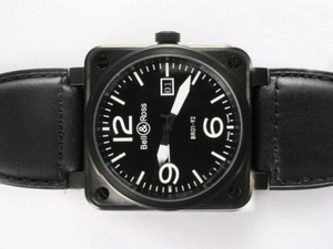 Great Bell & Ross BR 01-92 Big Date Automatic PVD case with Black Dial AAA Watches [T9K7]