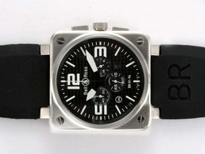 Great Bell & Ross BR 01-94 Working Chronograph with Carbon Fibre Style AAA Watches [D3N8]