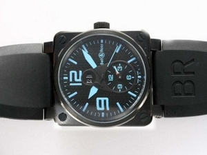 Great Bell & Ross BR 01 Two Time Zone Automatic PVD Case AAA Watches [H7N9]