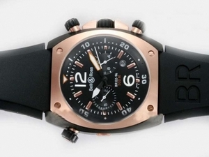 Great Bell & Ross BR 02-94 Automatic PVD Case-Rose Gold Bezel with White Dial AAA Watches [H4L8]