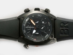 Great Bell & Ross BR 02-94 Working Chronograph PVD Case with Black Dial AAA Watches [K1R8]
