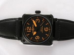 Modern Bell & Ross BR 01-92 Automatic PVD Casing with Orange Marking AAA Watches [R2O1]