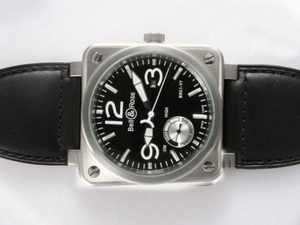 Modern Bell & Ross BR 01-97 Working Power Reserve Automatic with Black Dial AAA Watches [S4W3]
