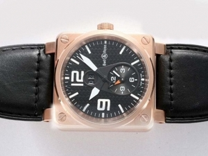 Modern Bell & Ross BR 01 Two Time Zone Automatic Rose Gold Case AAA Watches [R9M7]