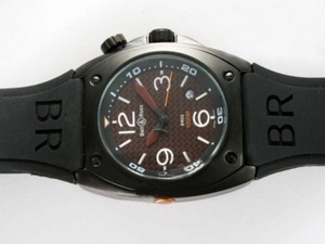 Perfect Bell & Ross BR02 Instrument Diver Automatic PVD Case with Brown Dial AAA Watches [P6J9]
