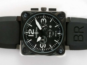 Popular Bell & Ross BR 01-94 Working Chronograph PVD Case with Black Dial AAA Watches [J7V7]