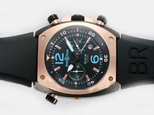 Popular Bell & Ross BR 02-94 Automatic PVD Case-Rose Gold Bezel AAA Watches [W9B7]