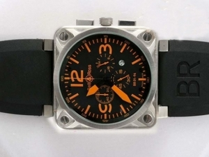 Quintessential Bell & Ross BR 01-94 Working Chronograph AR Coating with Orange Dial AAA Watches [R2T5]