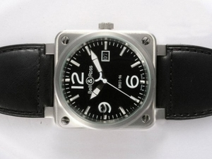 Avgörande Bell & amp; amp; Ross BR 01-96 Big Date Automatic Black Dial 46x46mm AAA klockor [S8X3]