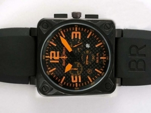 Vintage Bell & Ross BR 01-94 Working Chronograph AR Coating with Orange Dial AAA Watches [G4J4]