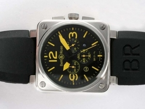 Vintage Bell & Ross BR 02-94 Working Chronograph with Black Dial AAA Watches [P8N9]