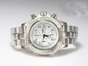 Gorgeous Breitling Chrono Avenger Working Chronograph with White Dial AAA Watches [F5R9]