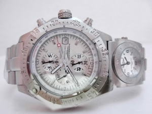 Quintessential Breitling Chrono Avenger Working Chronograph with White Dial AAA Watches [H3E1]