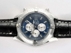 Modern Breitling Chronomat Evolution Chronograph Automatic with Blue Dial AAA Watches [V9L4]