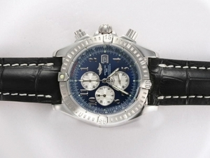Modern Breitling Chronomat Evolution Working Chronograph with Blue Dial AAA Watches [S5I1]