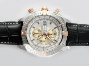 Popular Breitling Chronomat Evolution Working Chronograph Two Tone AAA Watches [J8V1]