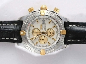 Quintessential Breitling Chronomat Evolution Working Chronograph Two Tone AAA Watches [G8O2]