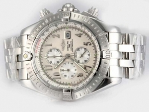 Cool Breitling Chronomat Evolution Working Chronograph with White Dial AAA Watches [I8A7]
