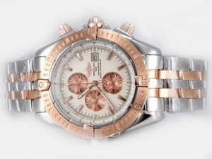 Cool Breitling Chronomat Evolution Working Chronograph Two Tone AAA Watches [I9T8]