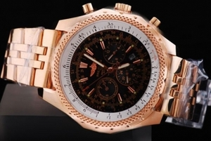 Cool Breitling For Bentley Automatic Movement Rose Gold Case AAA Watches [K4W5]
