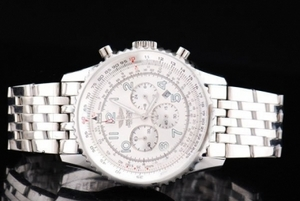 Cool Breitling Navitimer Chronograph Quartz Movement Silver Case AAA Watches [Q4J9]