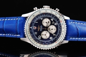 Cool Breitling Navitimer Chronograph Quartz Movement Silver Case AAA Watches [K1W2]