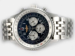 Cool Breitling Navitimer Working Chronograph With Dark Blue Dial AAA Watches [J6V2]