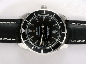 Cool Breitling Super Ocean Automatic with Black Dial and Bezel AAA Watches [L8W7]
