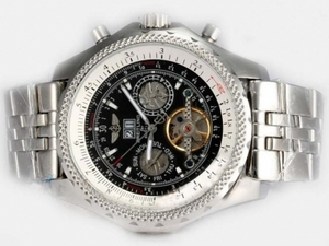 Cool Breitling for Bentley Motors Automatic Tourbillon with Black Dial AAA Watches [T4M3]