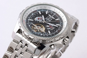 Cool Breitling for Bentley Motors Automatic Tourbillon with Black Dial AAA Watches [M1E3]
