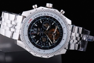 Cool Breitling for Bentley Tourbillon Automatic White Case with Black Dial AAA Watches [K1F4]