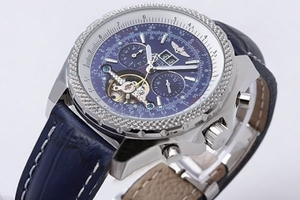 Cool Breitling for Bentley Tourbillon Chronograph Automatic with Blue Dial AAA Watches [F4N8]