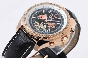 Fancy Breitling Bentley Tourbillon Automatic with Black Dial and Gold AAA Watches [E9Q5]