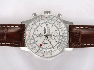 Fancy Breitling Navitimer World Chronograph Automatic with White Dial AAA Watches [U2H9]