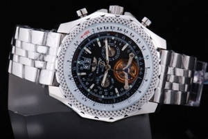 Fancy Breitling for Bentley Motors Automatic Tourbillon Silver Case AAA Watches [S3L4]