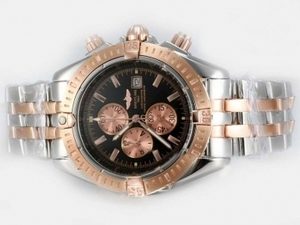 Gorgeous Breitling Chronomat Evolution Working Chronograph Two Tone AAA Watches [W6L2]