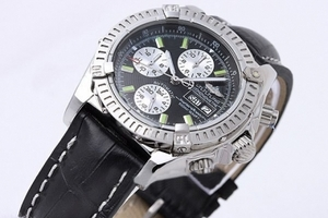 Gorgeous Breitling Super Ocean Automatic Silver Case with Black Dial AAA Watches [Q9F2]