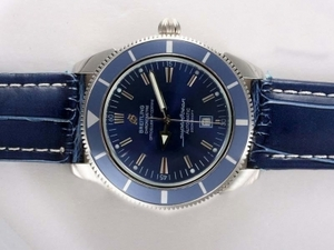 Gorgeous Breitling Super Ocean Automatic with Blue Dial and Bezel AAA Watches [T5X4]