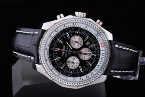 Gorgeous Breitling for Bentley Motors Automatic Movement SS Case with Black Dial AAA Watches [B9G7]