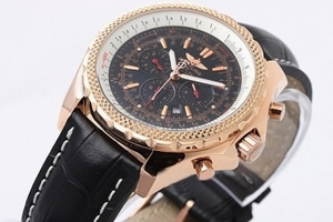 Great Breitling Bentley Motors Automatic with Black Dial and Gold Case AAA Watches [U5V2]