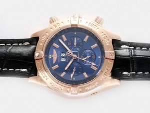 Great Breitling Black Bird Chronograph Automatic Full Rose Gold AAA Watches [X7S2]