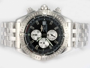 Great Breitling Chronomat Evolution Working Chronograph Black Dial AAA Watches [L5N2]