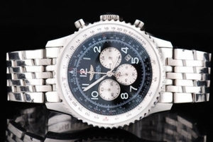 Great Breitling Navitimer Quartz Movement Silver Case with Black Dial AAA Watches [V3Q9]