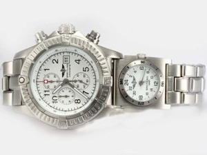 Perfect Breitling Chrono Avenger/UTC Working Chronograph White AAA Watches [V5X7]